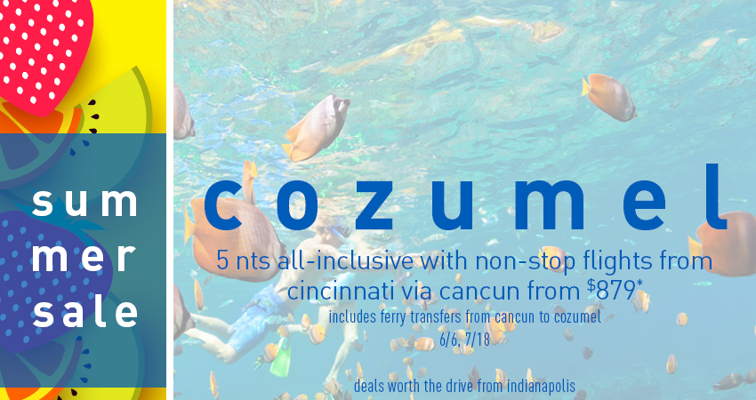 Indianapolis to Cozumel Deals