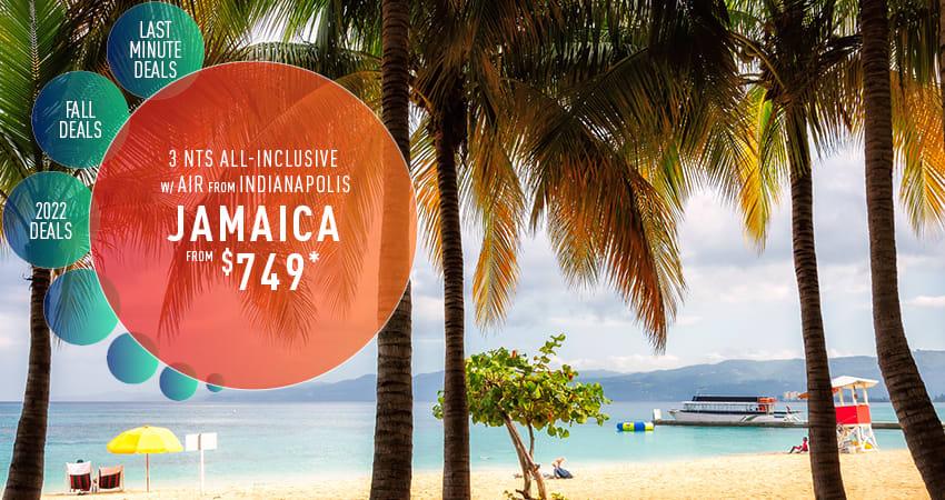 Indianapolis to Jamaica Deals