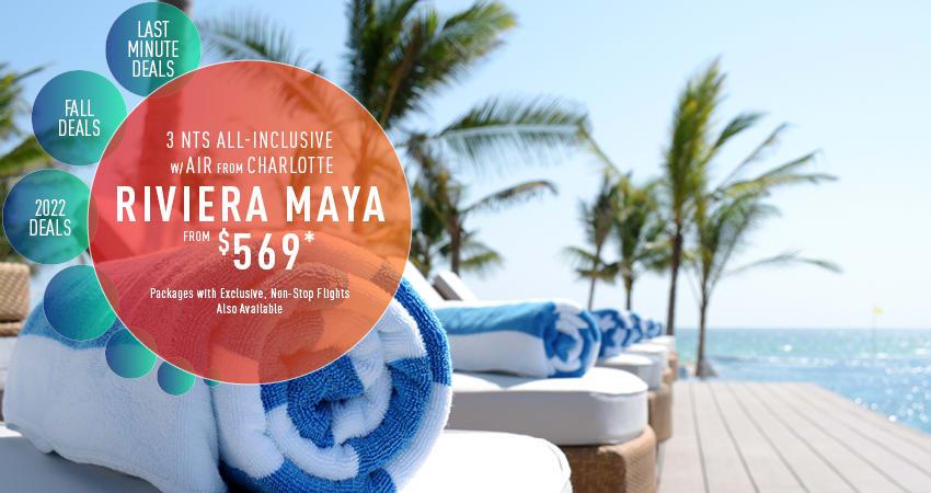 Charlotte to Riviera Maya Deals