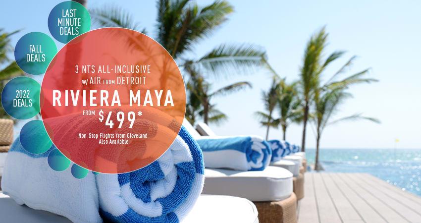 Detroit to Riviera Maya Deals