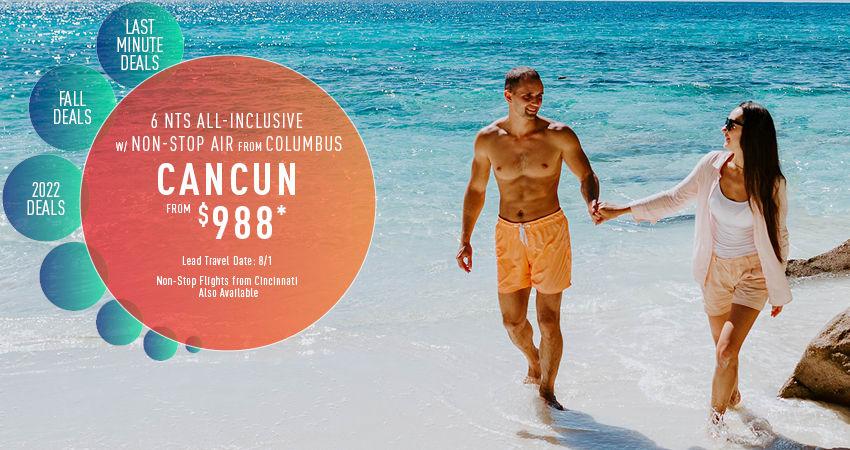 Columbus to Cancun Deals