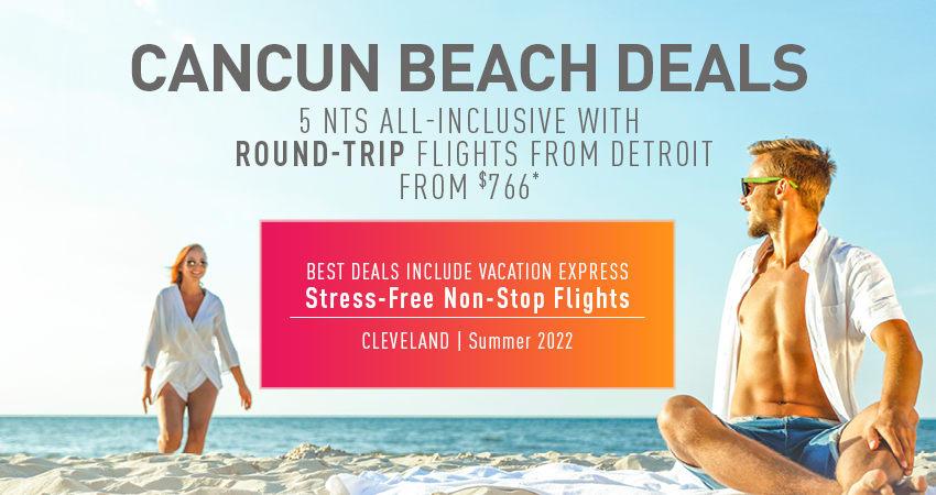 Detroit to Cancun Deals