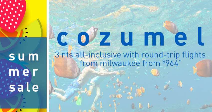 Milwaukee to Cozumel Deals